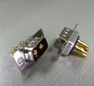 D-Sub Connector 2W2 Male Straight Power Contact Solder Type Tray Packing