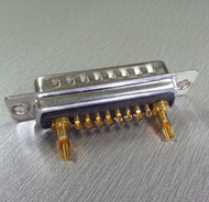 D-sub Connectors 17W2 Male Power Contact Solder Type Tray Packing