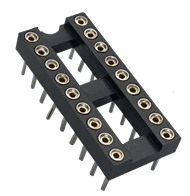 2.54mm Machined Pin IC Socket H=3.00 Row Pitch Option 7.62 10.16 15.24 22.86 Straight L=7.43