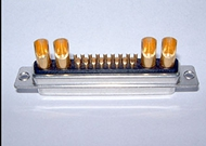 D-sub Connectors 21W4 Female Straight Power Contact Solder Type Tray Packing