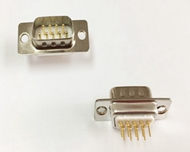 D-sub Connector Male Low Profile Dip Type Machined Pin Straight